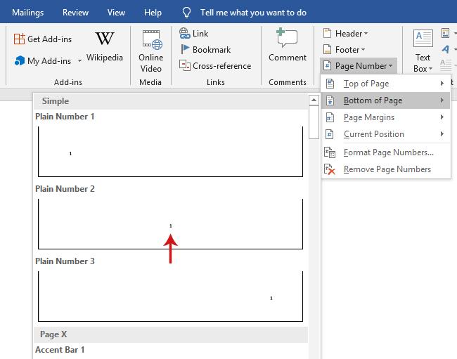 كيفية ترقيم الصفحات في الوورد كمبيوترنا